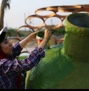 Iranian Artworks in Photos: Painting on Jahlah Jars