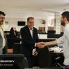 Mehr News Agency - Head of Iranian Space Agency tours Mehr News HQ