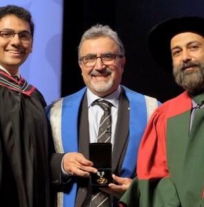 Iranian student wins prestigious Alumni Gold Medal