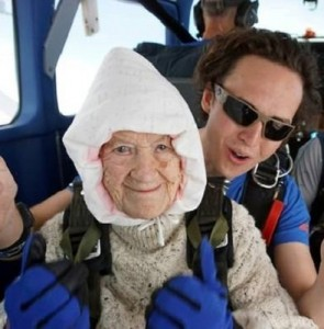 VIDEO: 101-year-old granny becomes oldest skydiver