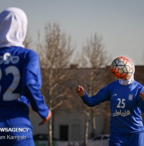 Mehr News Agency - Iran women's national football team training session