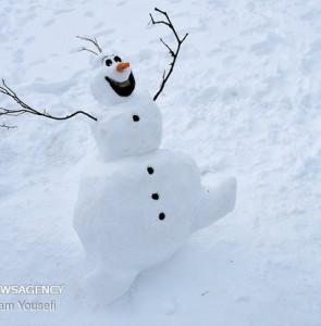 Mehr News Agency - Snowman festival in Shazand sky resort