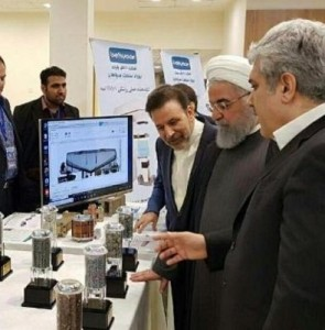 Pres. Rouhani visits exhibition of knowledge-based firms' achievements