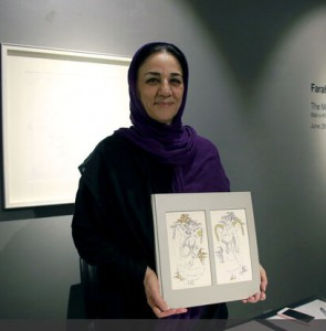 """""""The Moon and the Sun"""" up at Tehran gallery reflects mesmerizing prints of Ossouli paintings"""