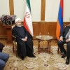 Pres. Rouhani arrives in Yerevan, meets with Armenian president