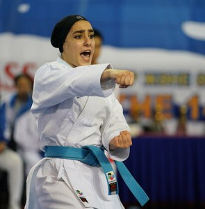 Iran's Sadeghi wins silver in karate kata at ANOC World Beach Games
