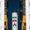 "Home-made ""Simorgh"" satellite carrier deployed in launch site"