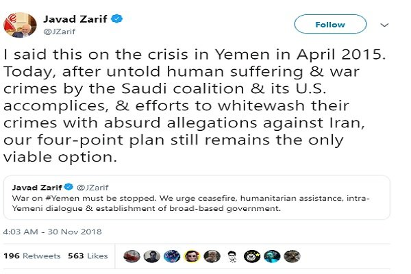 Iran's 4-point plan for Yemen still only viable option after four years