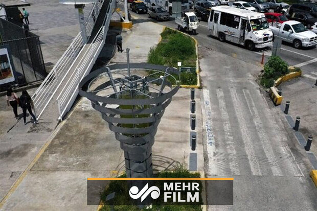 VIDEO: Artificial tree helps fight air pollution