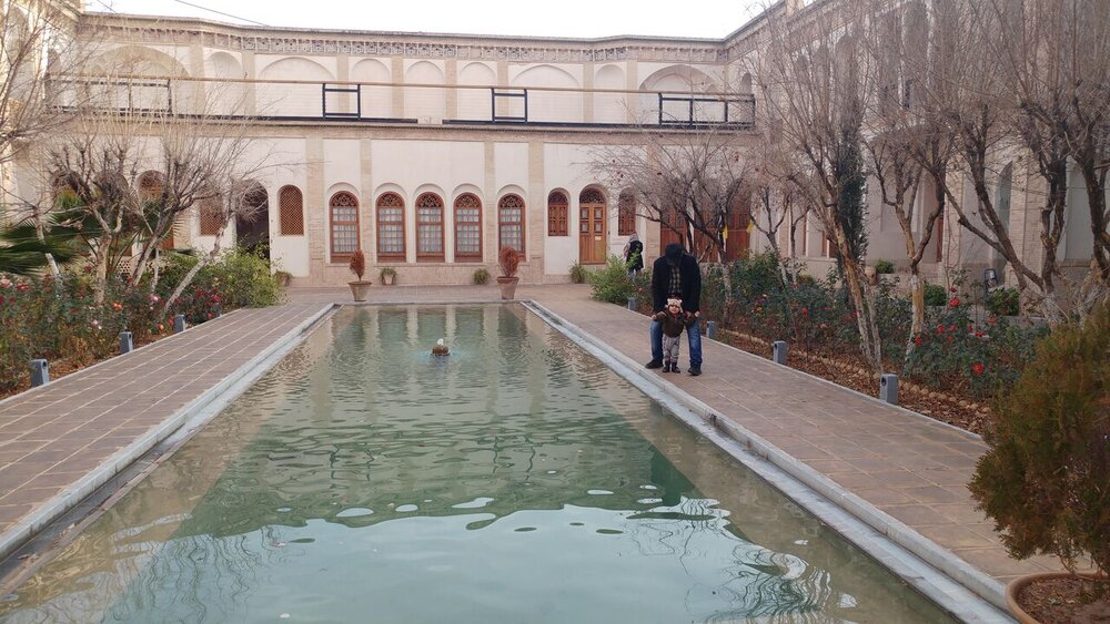 Visit majestic Ameri House while making excursion to central Iranian oasis, desert