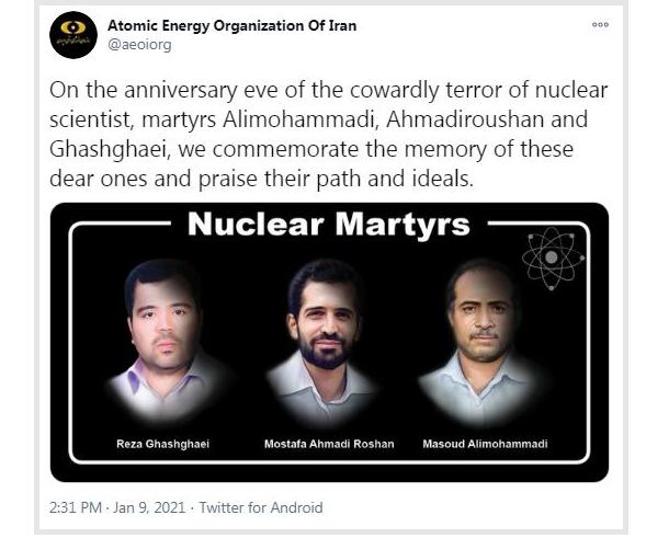 AEOI commemorates martyrdom anniv. of Iran nuclear scientists